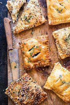 Caramelized Onion, Spinach, and Cheddar Flaky Pastries. - Half Baked Harvest