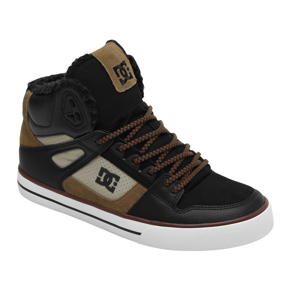 Dc Men S Spartan Hi Wc Skate Shoes Brown