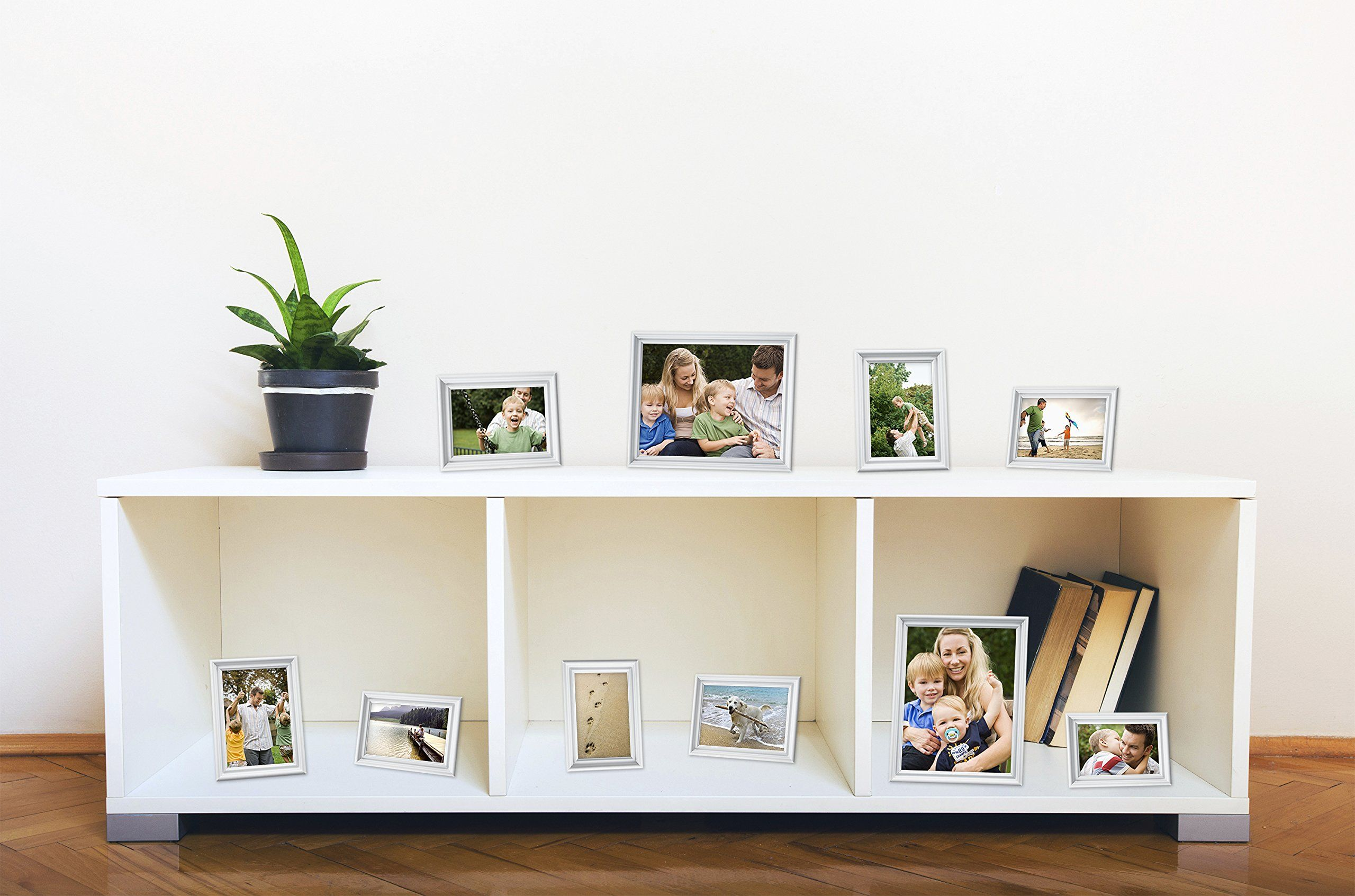 MCS 10pc Picture Frame Value Set Two 8x10 in Four 5x7 in Four 4x6 in ...