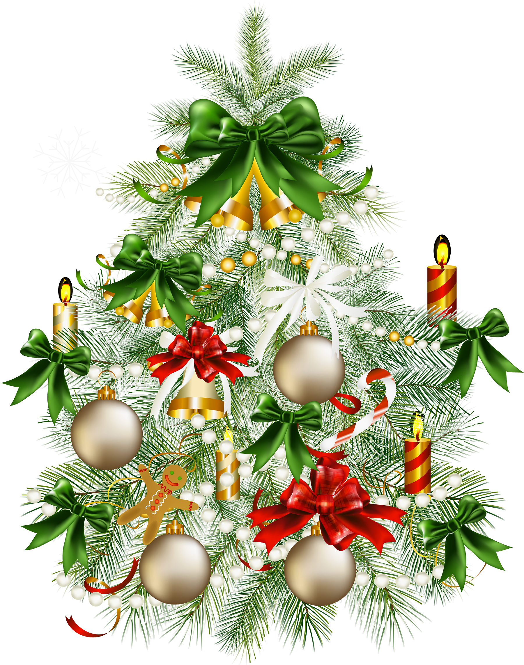 Transparent Snowy Christmas Tree With
