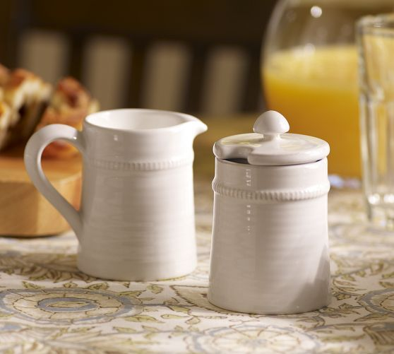 Our Stoneware Sugar And Creamer Set Is Handcrafted In