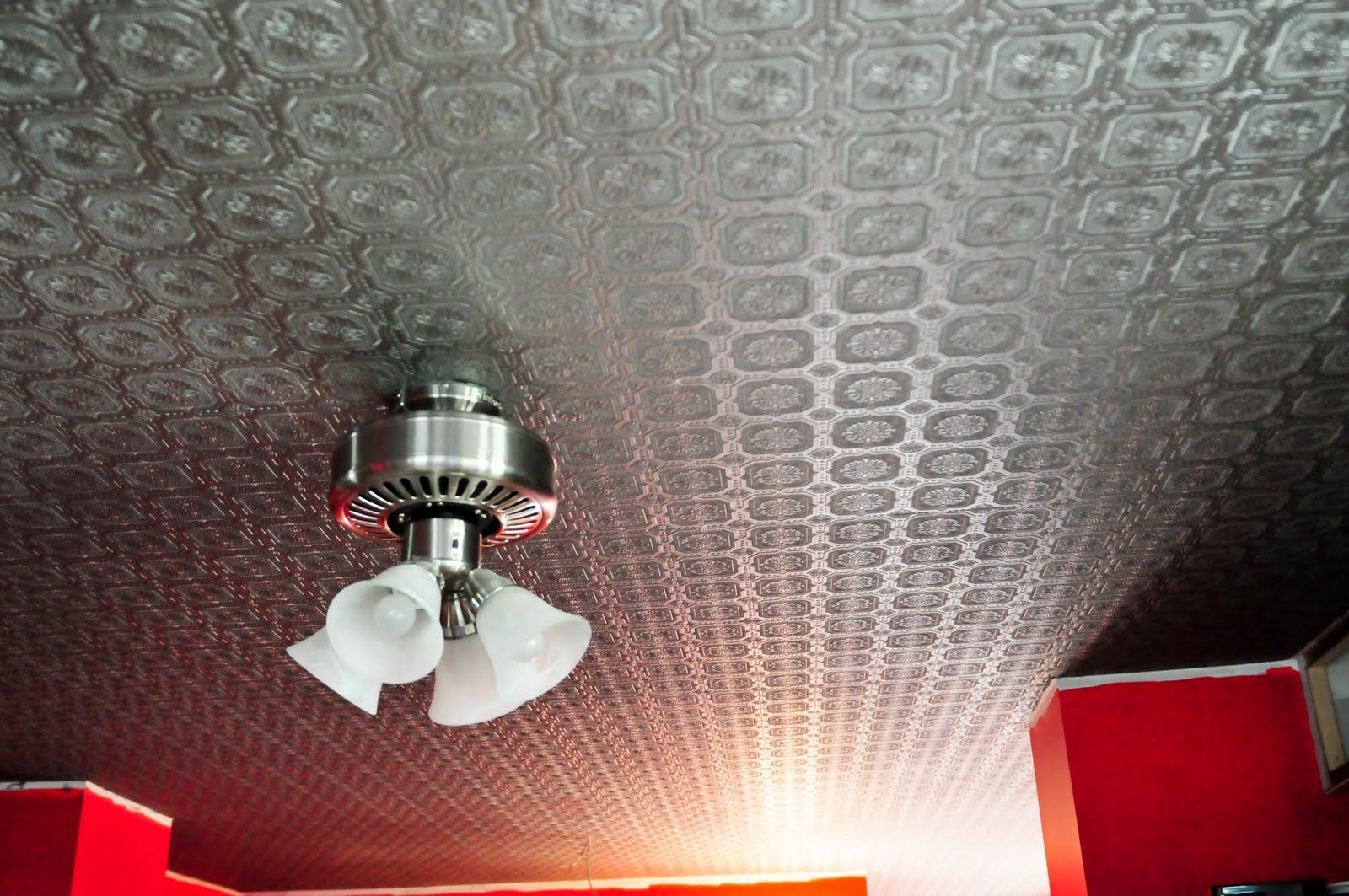 My Old Country Home Faux Tin Tile Ceiling Reveal Tin Ceiling Faux Tin Ceiling Faux Tin Tiles