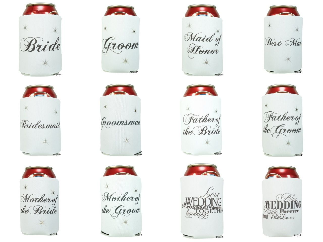 Wedding Stubby Holders Koozies Kozy | Wedding, Favors and Weddings