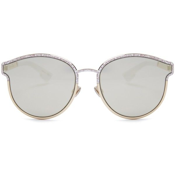 cd568662f7 Dior Symmetric mirrored sunglasses (5.794.090 IDR) ❤ liked on Polyvore  featuring accessories