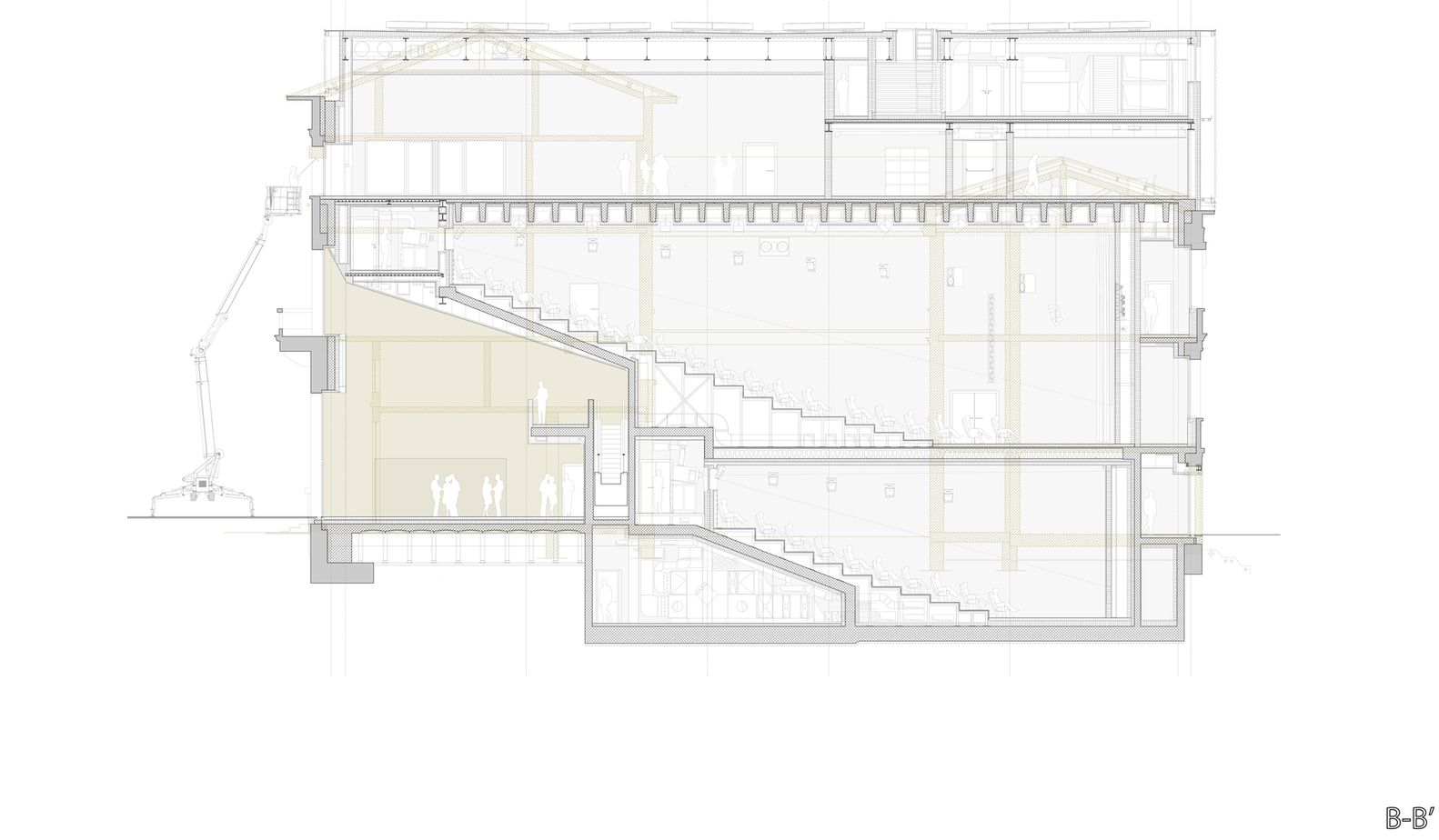 Gallery Of Cinemas And Movie Theaters Examples In Plan And Section 14 Movie Theater Cinema Preservation Architecture
