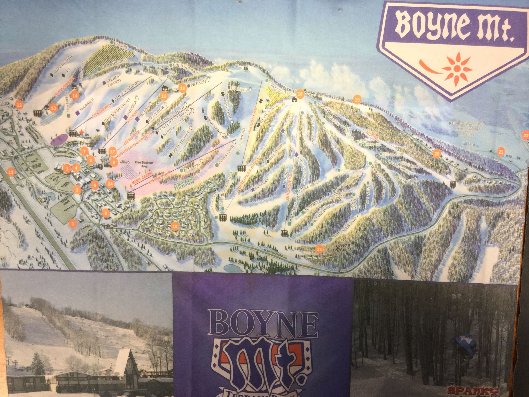 Boyne Mountain goggles cloth! Painting, Art, Mountains