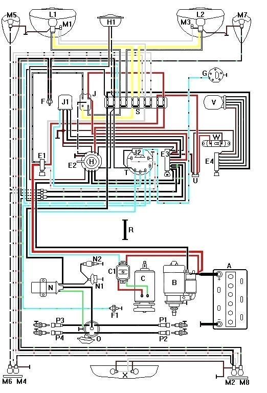 Motorcycle Wiring Harness Diagram Motorcycle Wiring Vw Dune Buggy Dune Buggy