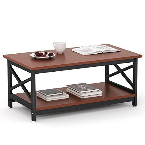 Emerald Home T100 0 Chandler Cocktail Table Wood Coffee Table Living Room Table Modern