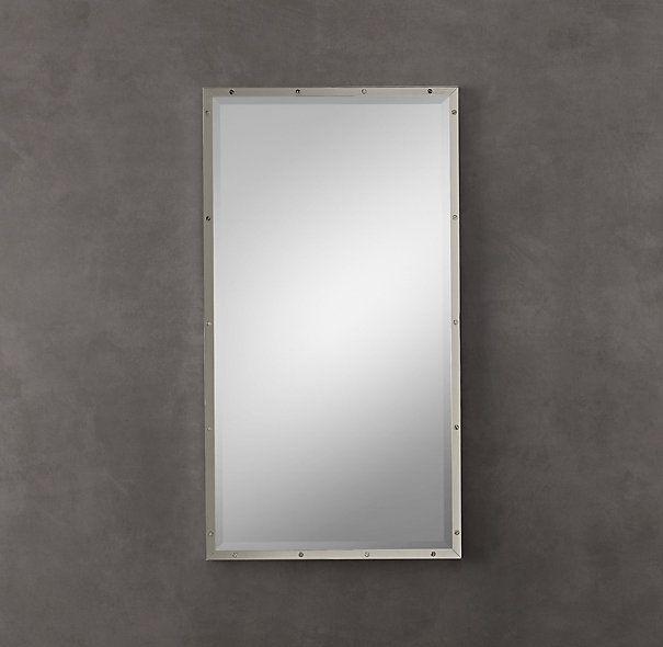 Pic Of Bathroom mirror option BISTRO POLISHED NICKEL MIRROR Restoration Hardware