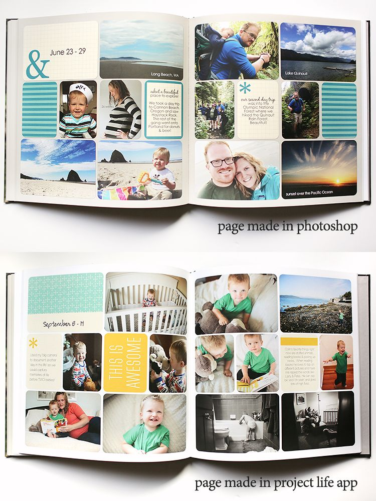Project Life App Printed Pages From App Helpful Tips