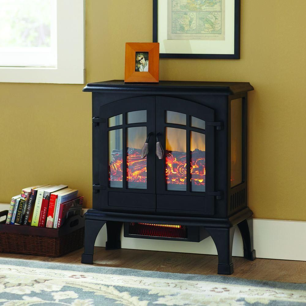 Fireplace Electric Stove Portable Heater Infrared 1 000 Sq Ft