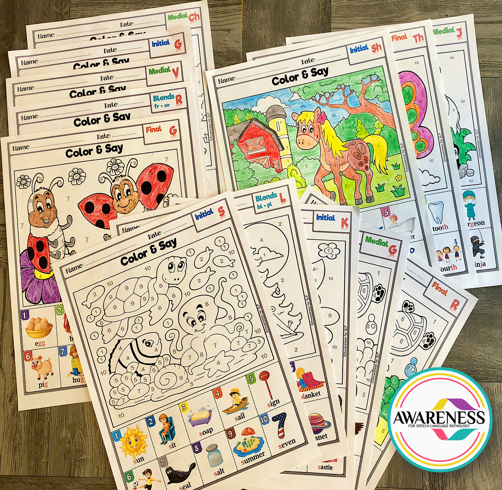 Articulation Coloring Worksheet