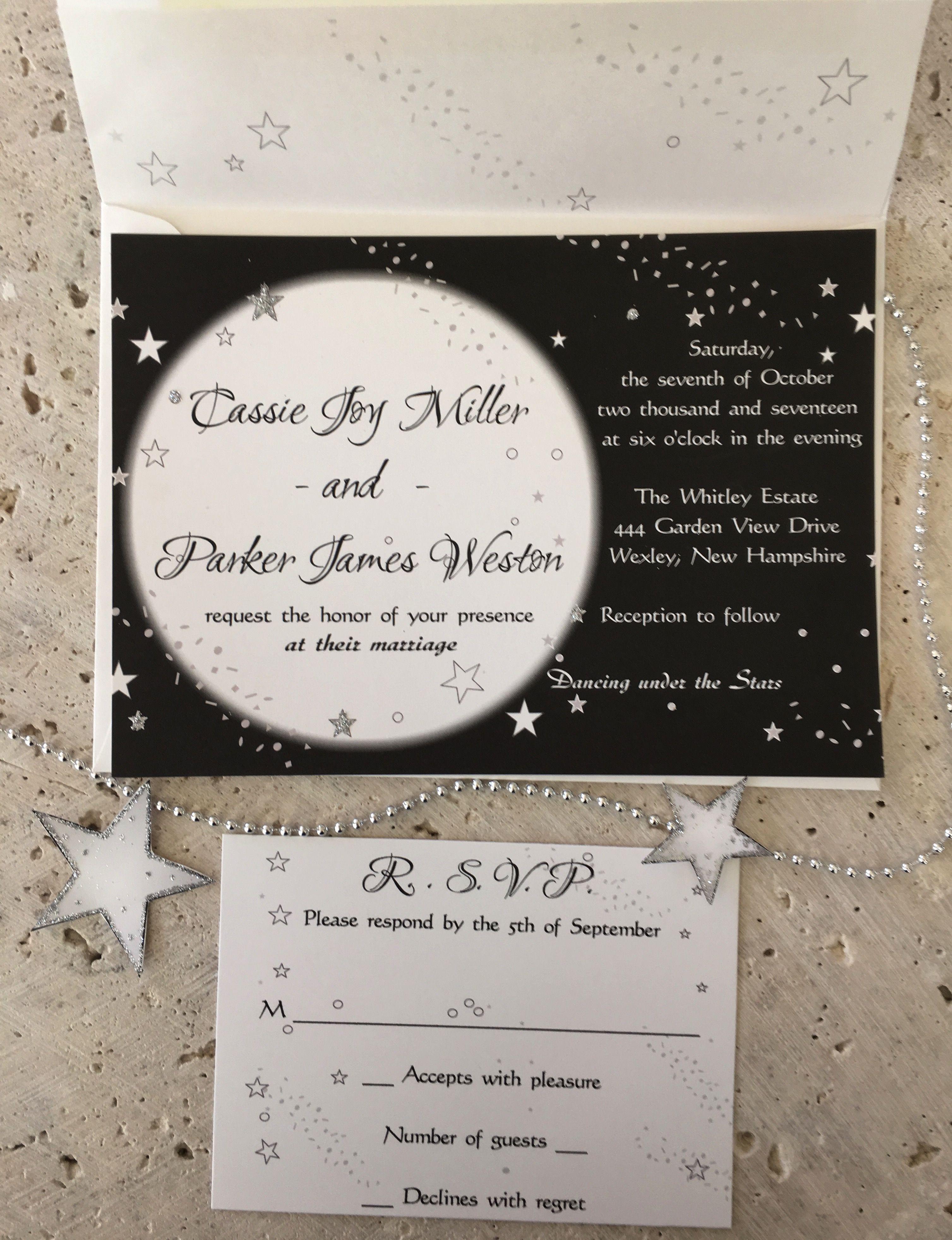 Moonlight & Stars Wedding Invitation | Star wedding, Weddings and ...