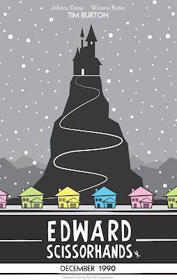 Edward Scissorhands Movie Posters Minimalist Alternative Movie