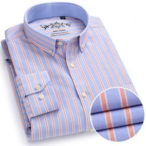 3e159c8ac Men's Plaid Checked Oxford Button-down Shirt with Chest Pocket Smart Casual  Classic Dress