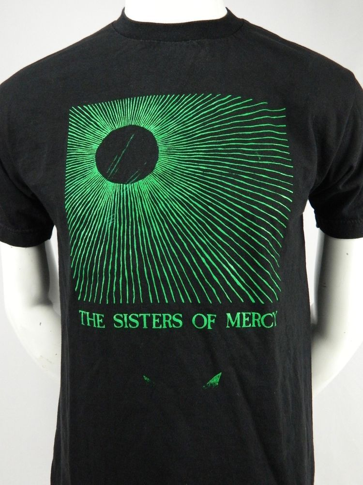da361423 THE SISTERS OF MERCY Temple of Love Black Graphic Print T Shirt Medium  #AlstyleApparelActivewear #GraphicTee