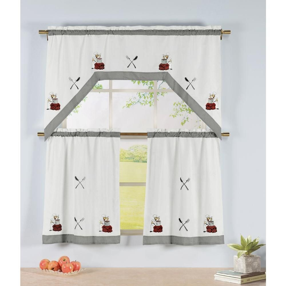 Window elements semiopaque tomatoes embroidered piece kitchen