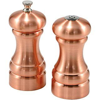 Olde Thompson Columbia Copper Pepper Mill & Salt Shaker Set