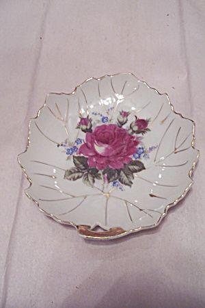 Elegant Occupied Japan Porcelain Leaf Shaped Candy Dish