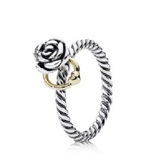 113eff5fd Authentic Pandora 14K Gold & Silver Two Tone Reminder Rose Ring 190860