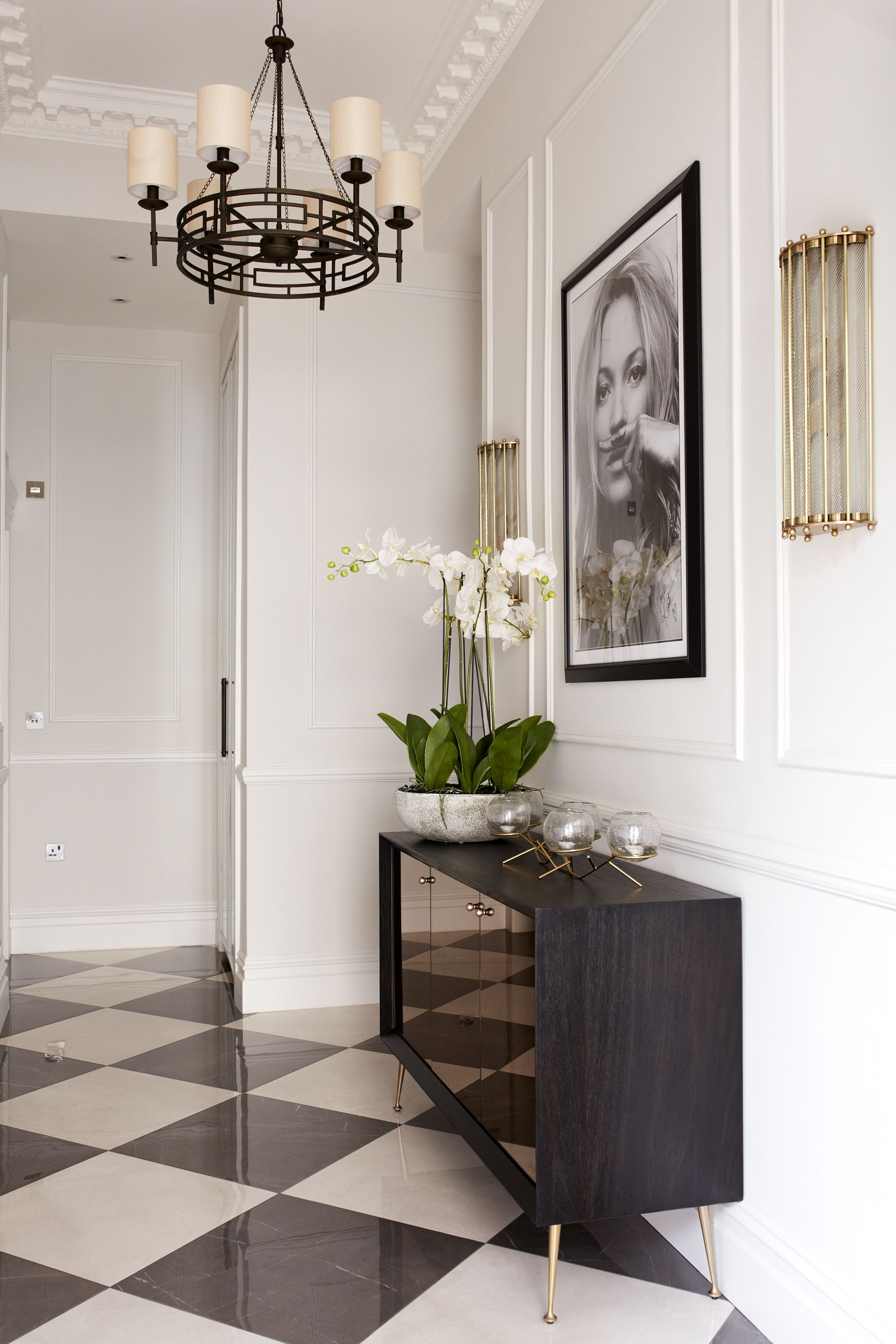 Modern/traditional entrance. Floor tiles from Stone
