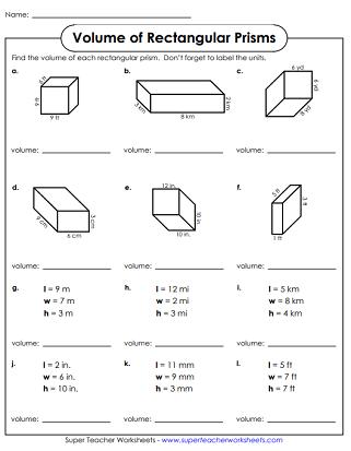 Volume Printables Rectangular Prisms   Volume worksheets ...