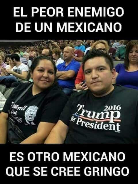 Los ataca el racista déspota de Donald Trump ... y aquí ...