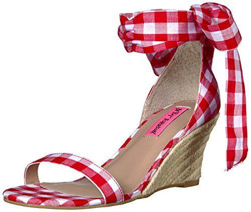 6844d3da59298 Betsey Johnson Women's Jemi Espadrille Wedge Sandal | Shoe Central ...