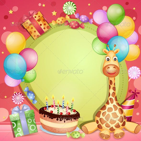 Birthday Card #GraphicRiver Birthday card with birthday cake - birthday cards format