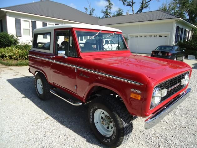 Autotrader Classics 1970 Ford Bronco Truck Red 8 Cylinder Manual