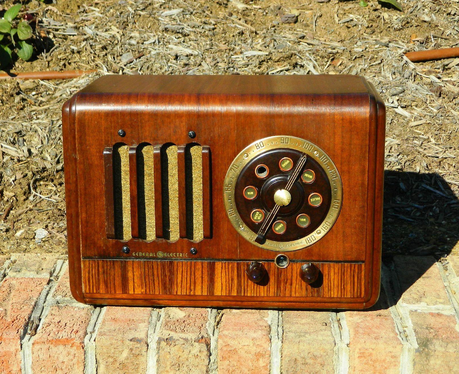 1937 Ge General Electric Antique Am Radio Model G 50 Looks Good And Works Ebay Vintage Radio Antique Radio Retro Radios
