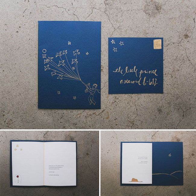 Wedding Inspiration From The Little Prince Wedding Invitations
