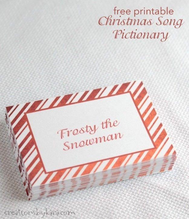 christmas charades game and free printable roundup Charades