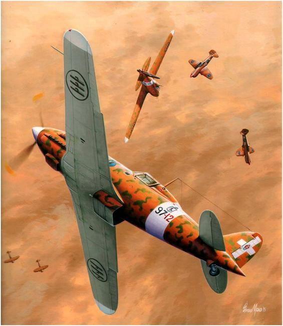 Macchi C.202 Folgore de la 84ª Squadriglia, 10 Gruppo, 4to Stormo, Campoformido, primavera de 1942