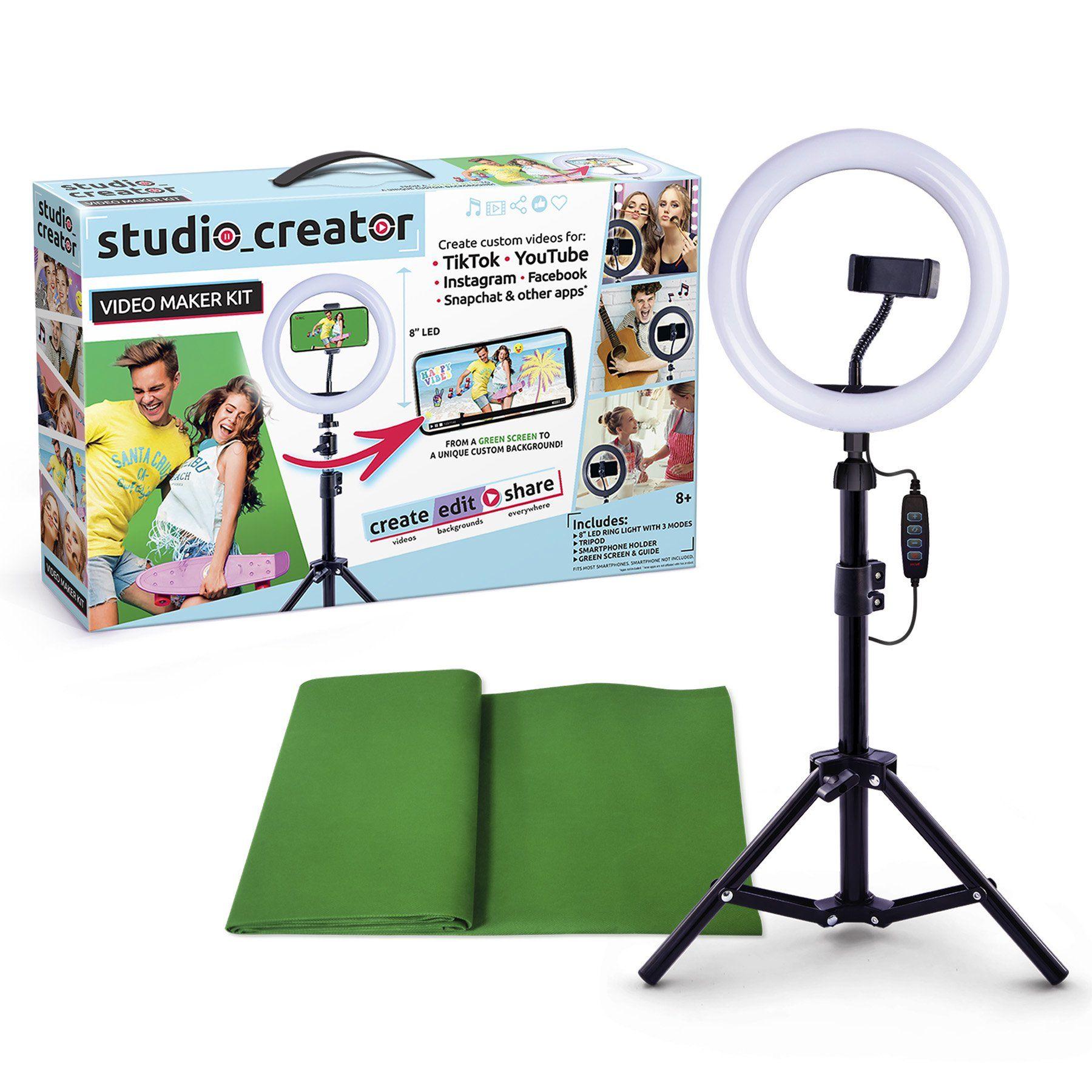 Studio Creator Video Maker Kit Create Your Very Own Social Videos Walmart Com Greenscreen Video Maker Instagram And Snapchat