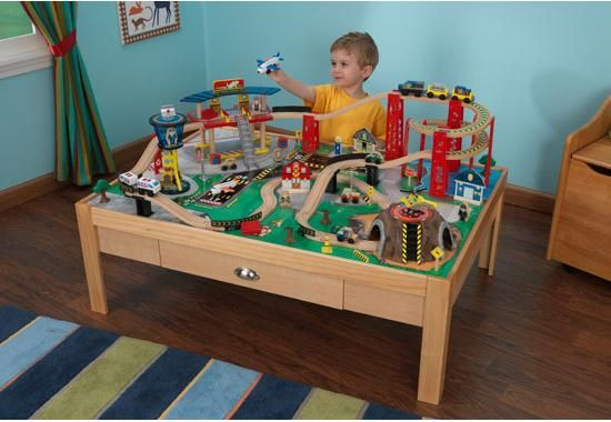 Kid Kraft - Airport Express Train Set and Table | Kids | Pinterest ...