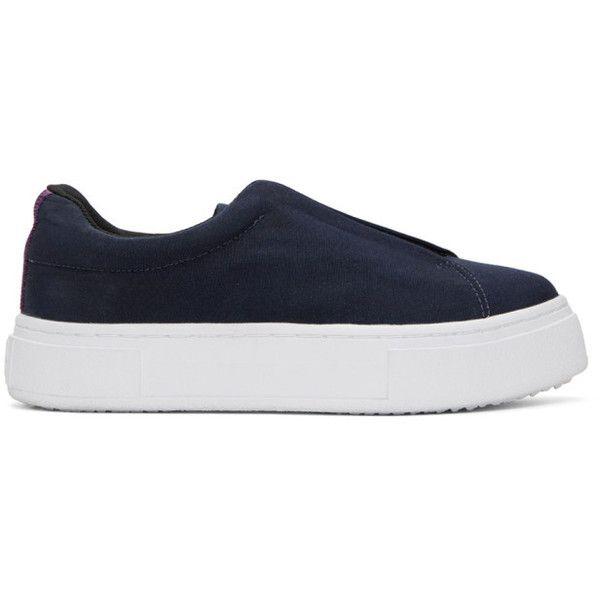 Alexander Wang Navy Canvas Doja Slip-On Sneakers VmjP5