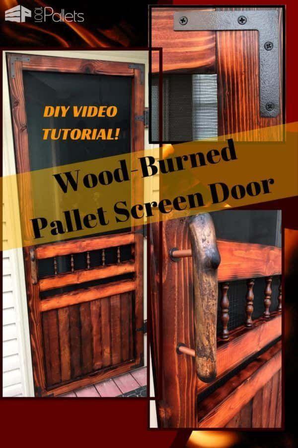 Diy Video Tutorial: Pallet Wood Screen Door   Wood screen ...