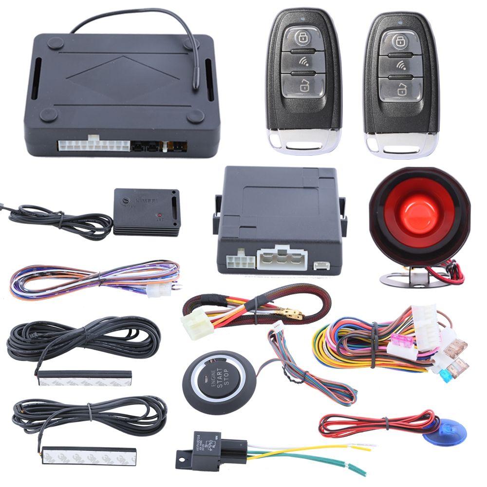 Quality Pke Car Alarm System Passive Keyless Entry Kit Push Button