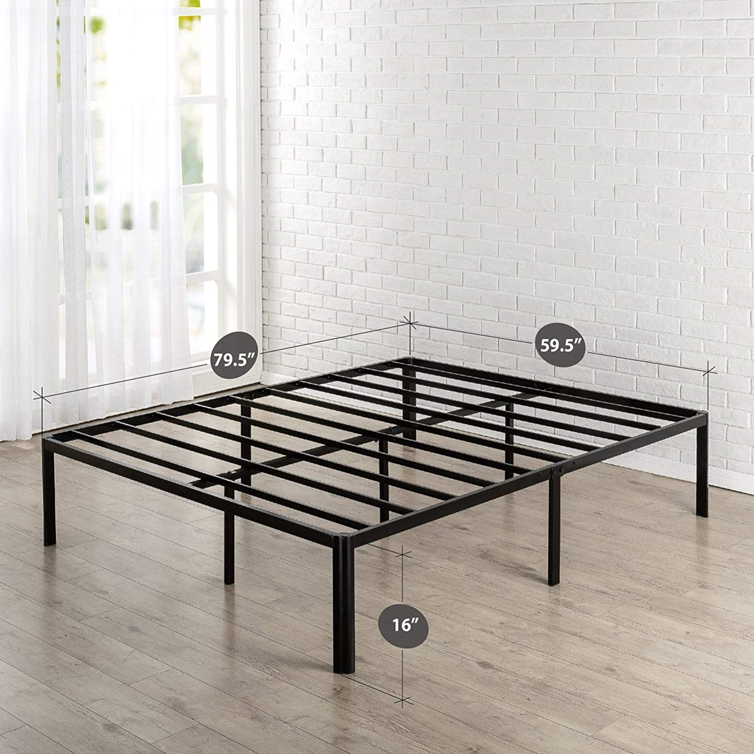 Amazon Com Zinus Van 16 Inch Metal Platform Bed Frame With Steel Slat Support Mattress Foundation Metal Platform Bed Platform Bed Frame Bed Frame Mattress