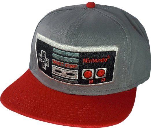 1f6bb032dd141 Amazon.com  Nintendo Controller Red Grey Mens Snapback  Clothing ...