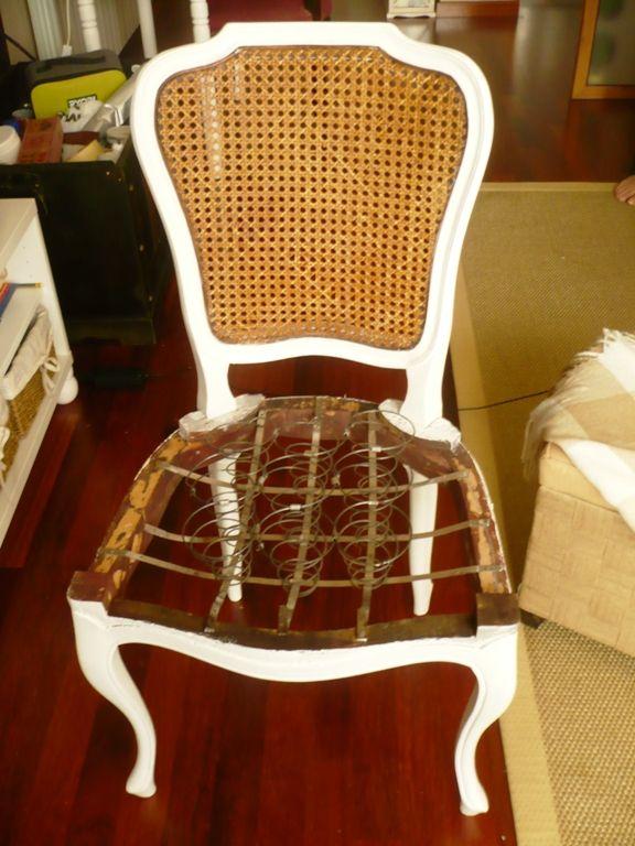 Como tapizar silla de muelles 02 ideas pinterest d co for Como tapizar sillas antiguas
