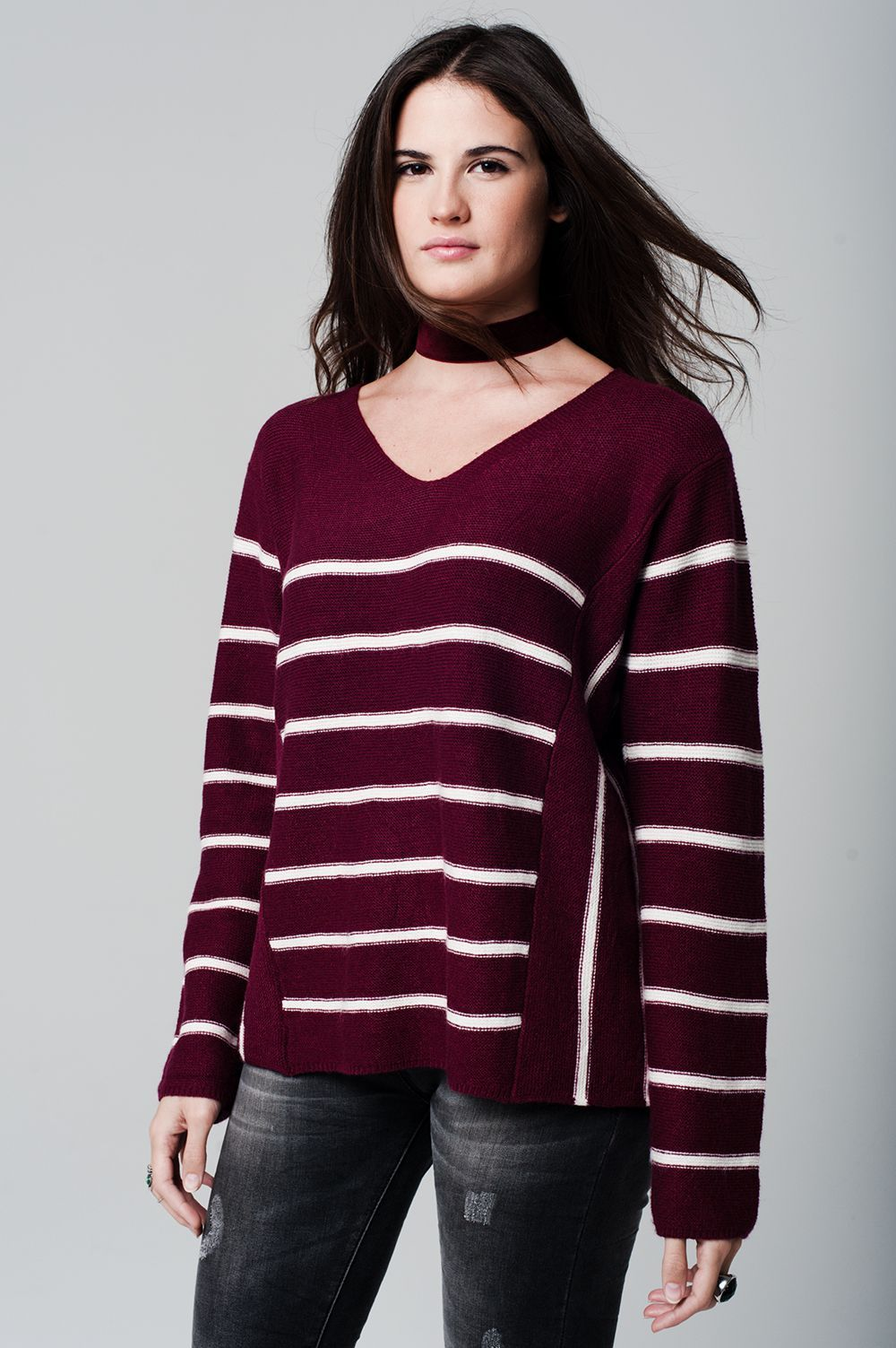 Tall maroon knitted stripe jumper | Products | Pinterest | Striped ...