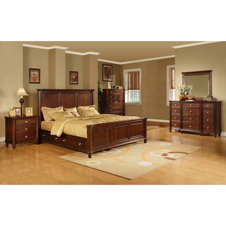 Gavin Bedroom Storage Bed Set King 6 Pc Sam S Club