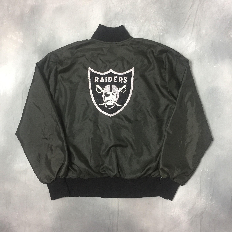 True Vtg 70s 80s Rare Raiders Mike Davis Varsity Jacket Nfl Los Angeles Oakland Raiders Varsity Embroi Varsity Jacket White Turtleneck Sweater Trending Outfits [ 2448 x 2448 Pixel ]