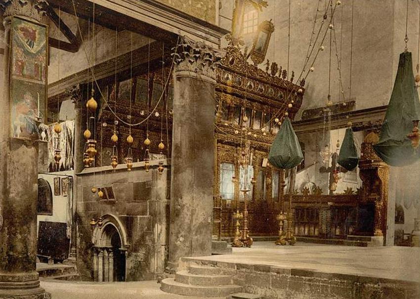 Inside Bethlehem Church of Nativity ancient picture + + + Κύριε Ἰησοῦ Χριστέ, Υἱὲ τοῦ Θεοῦ, ἐλέησόν με + + + The Eastern Orthodox Facebook: https://www.facebook.com/TheEasternOrthodox Pinterest The Eastern Orthodox: http://www.pinterest.com/easternorthodox/ Pinterest The Eastern Orthodox Saints: http://www.pinterest.com/easternorthodo2/