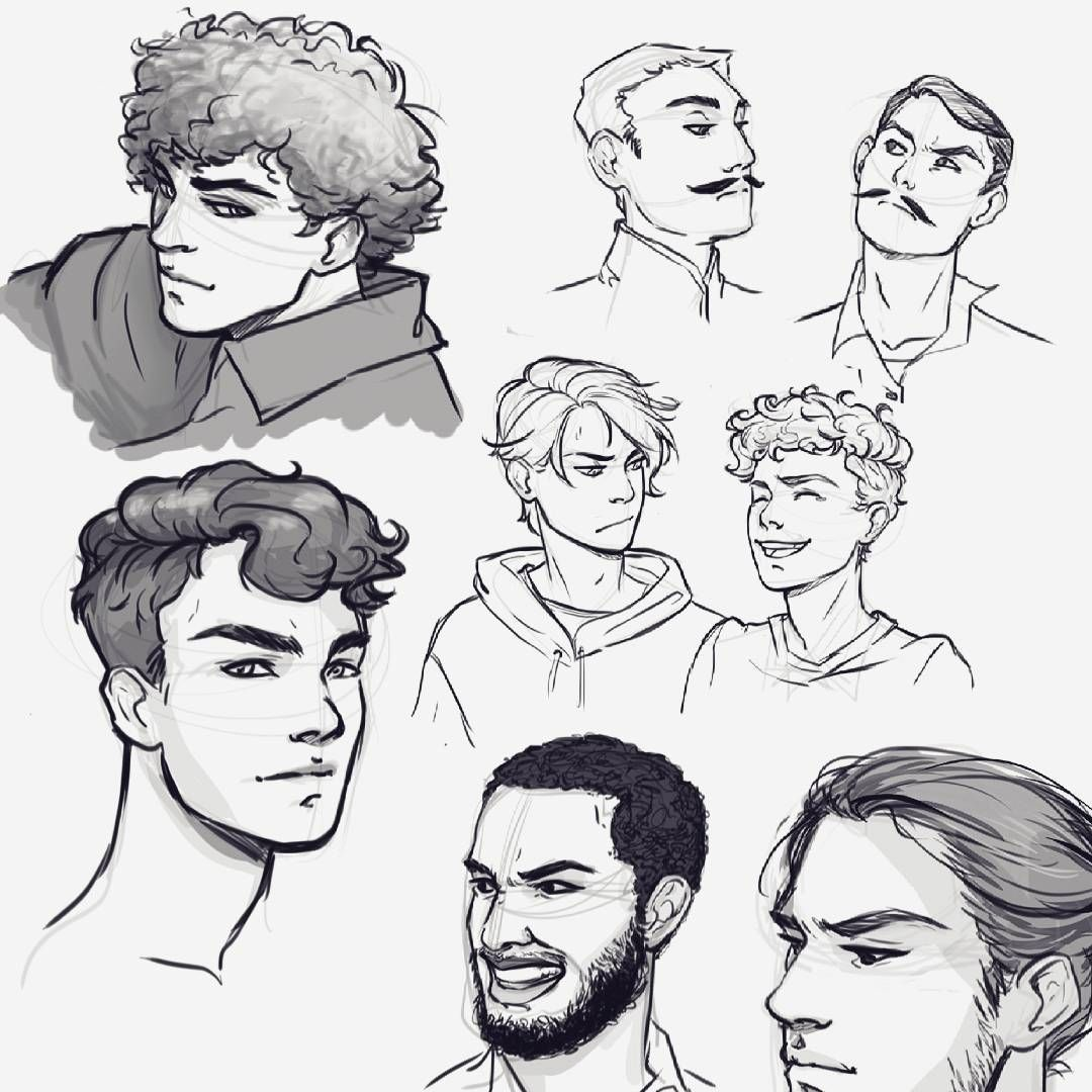 Elena On Instagram Dudes Draw Drawing Sketching Sketch Boys Practicing Face Faces Digitalart Digital Boy Hair Drawing Cartoon Drawings Guy Drawing