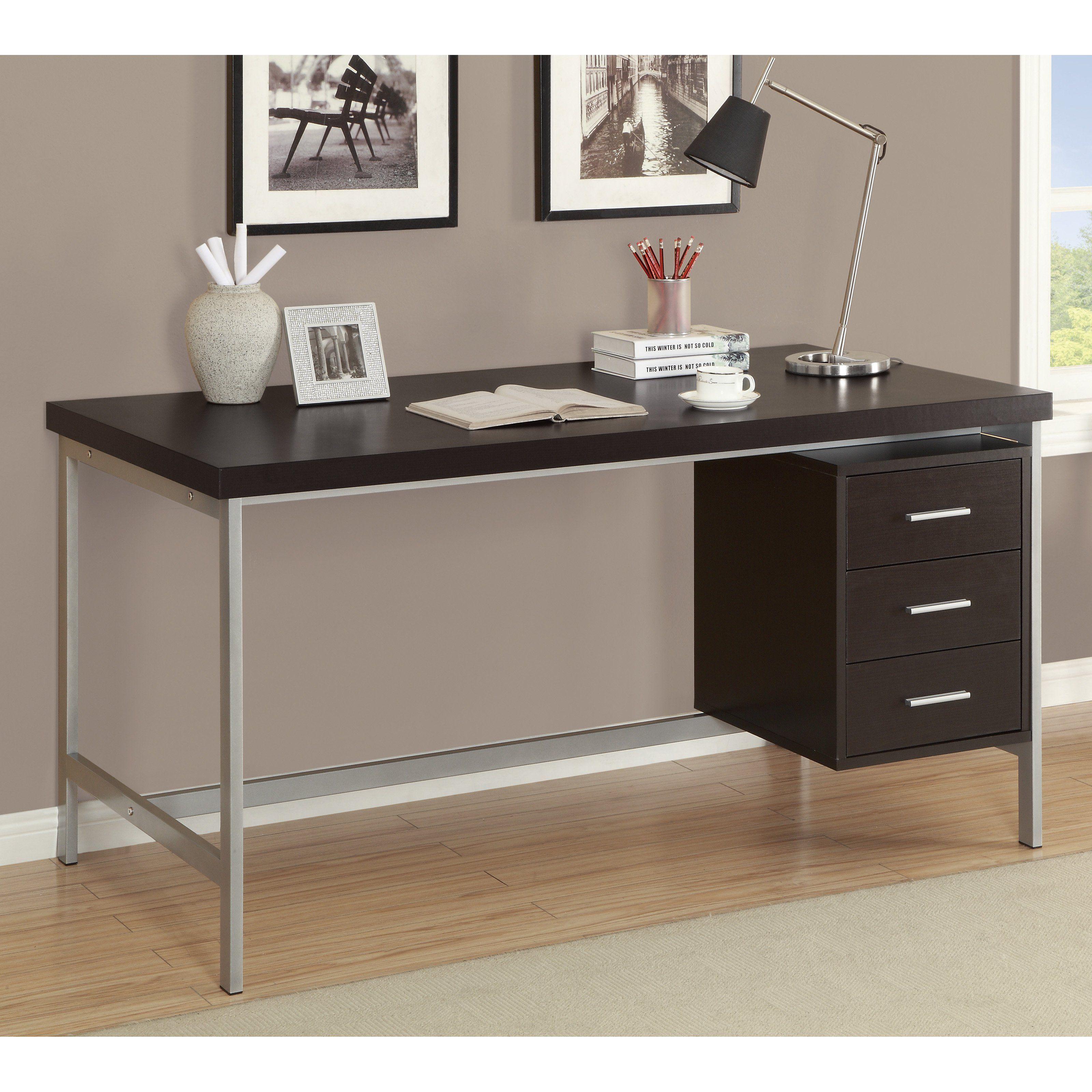 Monarch 60 In. Hollow Core Metal Office Desk   Get Sleek, Mid