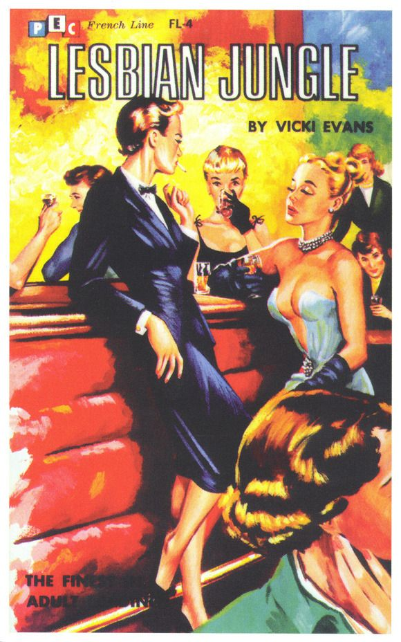 Lesbians Classic Movie Posters Pulp Fiction Book Cover Art