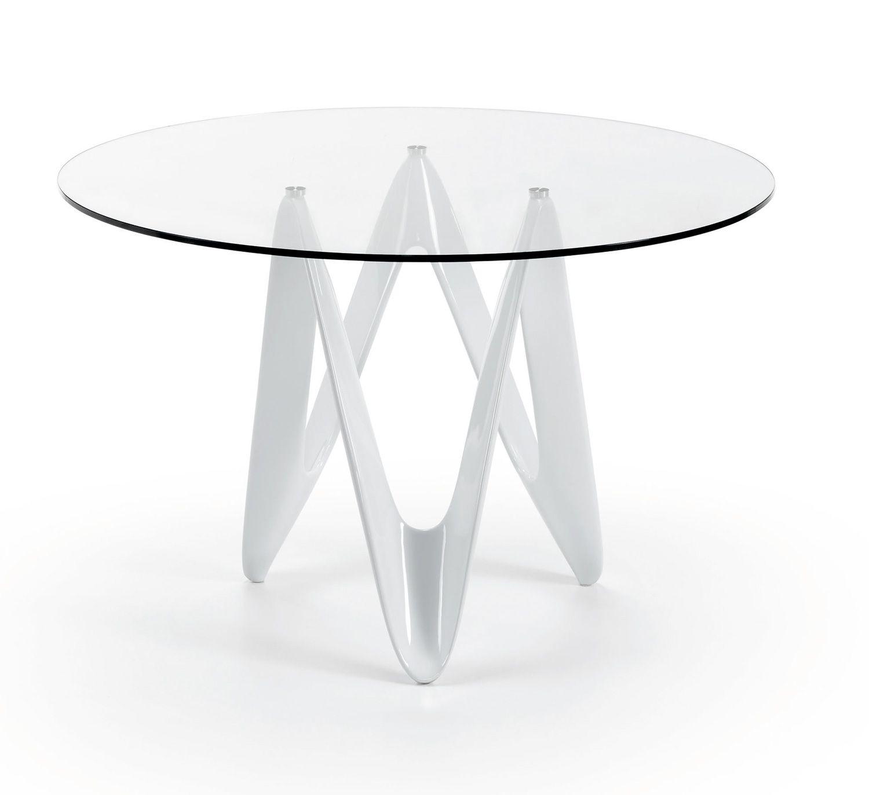 Mesa redonda de vidrio - Mesa de comedor redonda de cristal. | Home ...